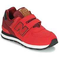 Schuhe Kinder Sneaker Low New Balance KV575 Rot / Schwarz