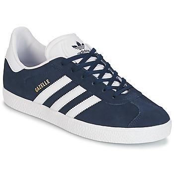 Schuhe Jungen Sneaker Low adidas Originals GAZELLE J Marine