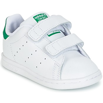 Schuhe Kinder Sneaker Low adidas Originals STAN SMITH CF I Weiss / Grün