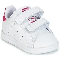 Schuhe Mädchen Sneaker Low adidas Originals STAN SMITH CF I Weiss / Rose