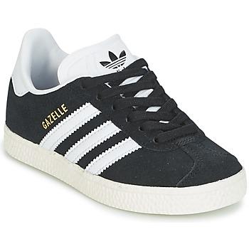 Schuhe Jungen Sneaker Low adidas Originals GAZELLE C Schwarz