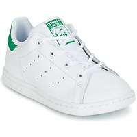 Schuhe Kinder Sneaker Low adidas Originals STAN SMITH I Weiss / Grün