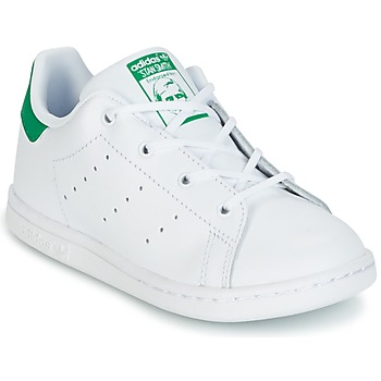 Schuhe Kinder Sneaker Low adidas Originals STAN SMITH I Weiss / Grün