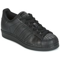 Schuhe Kinder Sneaker Low adidas Originals SUPERSTAR Schwarz