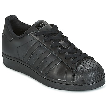 Schuhe Kinder Sneaker Low adidas Originals SUPERSTAR Schwarz