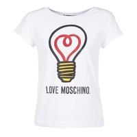 Kleidung Damen T-Shirts Love Moschino W4F3038E1512 Weiss