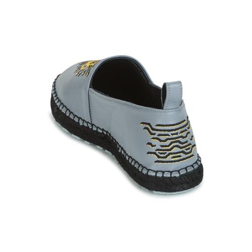 Kenzo KUMI Grau  Schuhe 171,50 Leinen-Pantoletten mit gefloch Damen 171,50 Schuhe c0c084