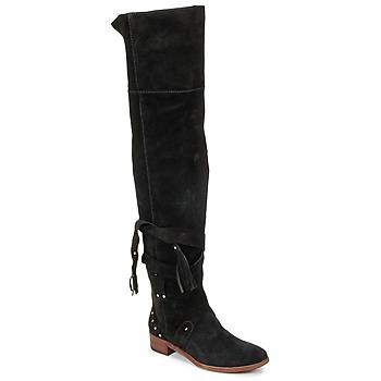 Schuhe Damen Kniestiefel See by Chloé FLIROL Schwarz