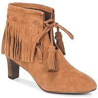 Schuhe Damen Low Boots See by Chloé FLARIL Cognac