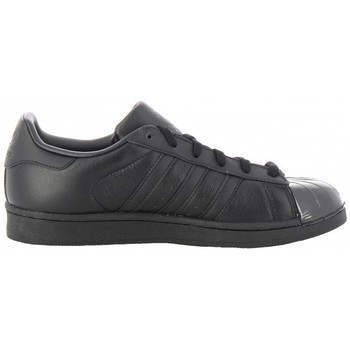 Schuhe Damen Sneaker Low adidas Originals Superstar Glossy Toe W Frau Schwarz Noir