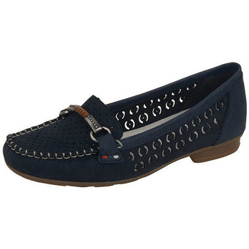 Schuhe Damen Slipper Rieker NV blau