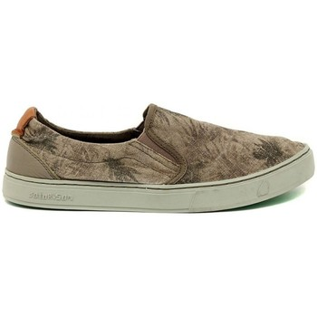 Schuhe Herren Slip on Satorisan Soumei Algue Palms Braun