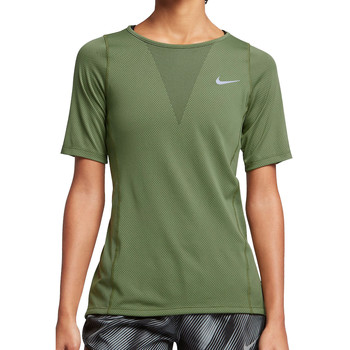 Kleidung Damen T-Shirts Nike Zonal Cooling Relay SS Top Women Grün
