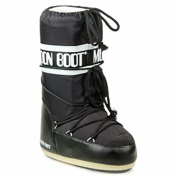 Schuhe Damen Schneestiefel Moon Boot MOON BOOT NYLON Schwarz