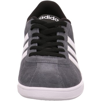 Schuhe Kinder Sneaker Low adidas Originals VL Court Grau