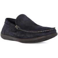 Schuhe Herren Slipper Frau CASTORO BLU Blu