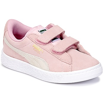 Schuhe Mädchen Sneaker Low Puma SUEDE 2 STRAPS PS Rose