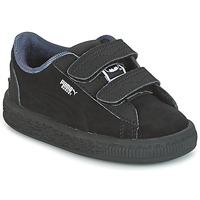 Schuhe Jungen Sneaker Low Puma SUEDE BATMAN V INF Schwarz