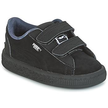Schuhe Jungen Sneaker Low Puma SUEDE BATMAN V INF Schwarz / Batman
