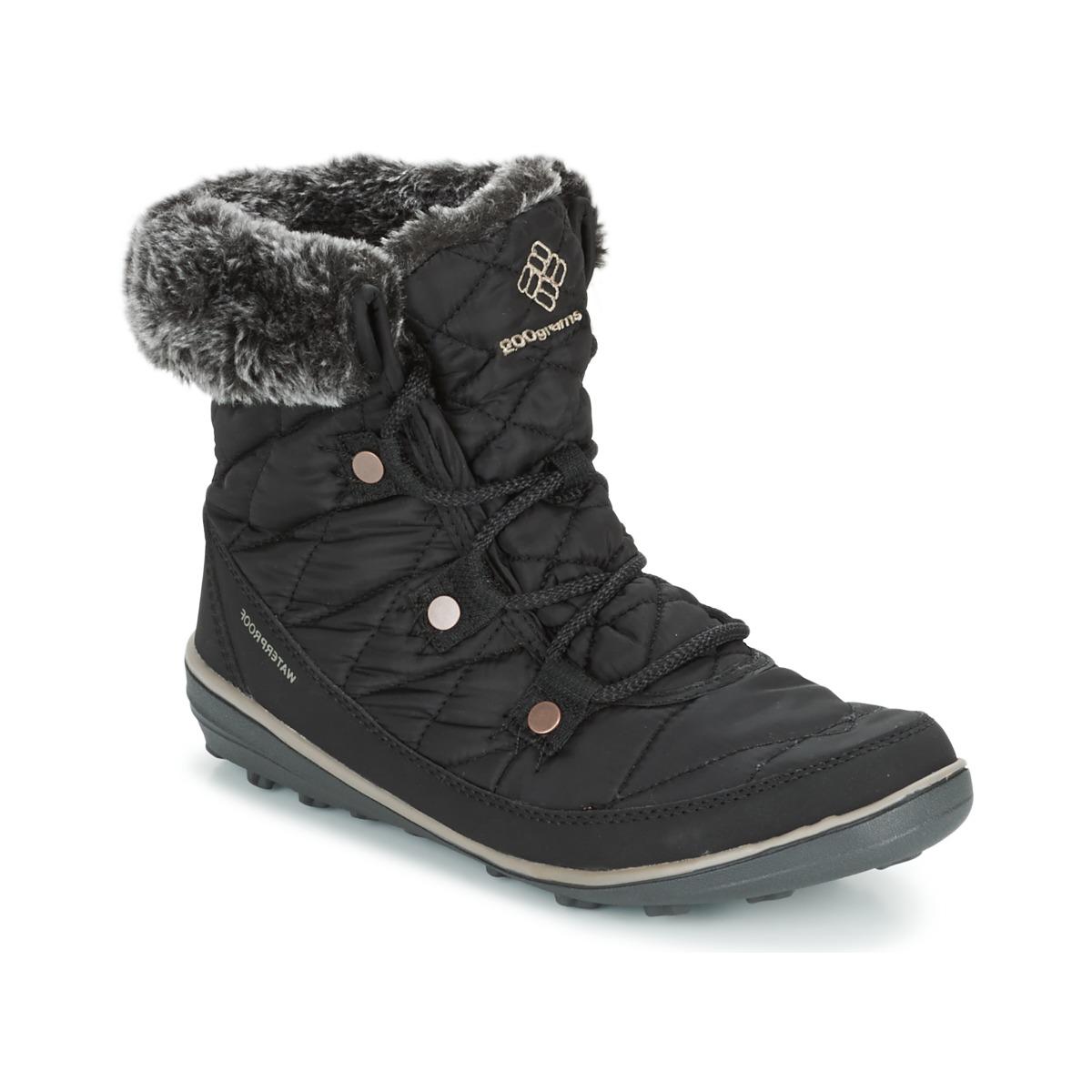 Columbia HEAVENLY SHORTY OMNI-HEAT Schwarz - Kostenloser Versand bei Spartoode ! - Schuhe Schneestiefel Damen 109,00 €