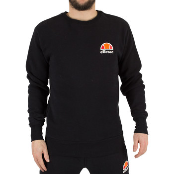 Kleidung Herren Sweatshirts Ellesse Herren Diveria Links oben Logo-Sweatshirt, Schwarz schwarz