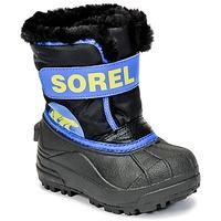 Schuhe Kinder Schneestiefel Sorel CHILDRENS SNOW COMMANDER Schwarz / Blau