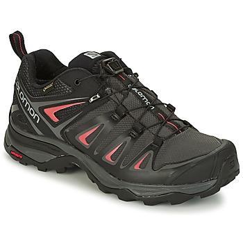 Schuhe Damen Wanderschuhe Salomon X ULTRA 3 GTX® Schwarz / Rot