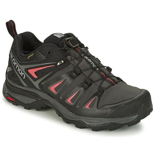 Salomon X ULTRA 3 GTX® Schwarz / Rot  Schuhe Wanderschuhe Damen 139
