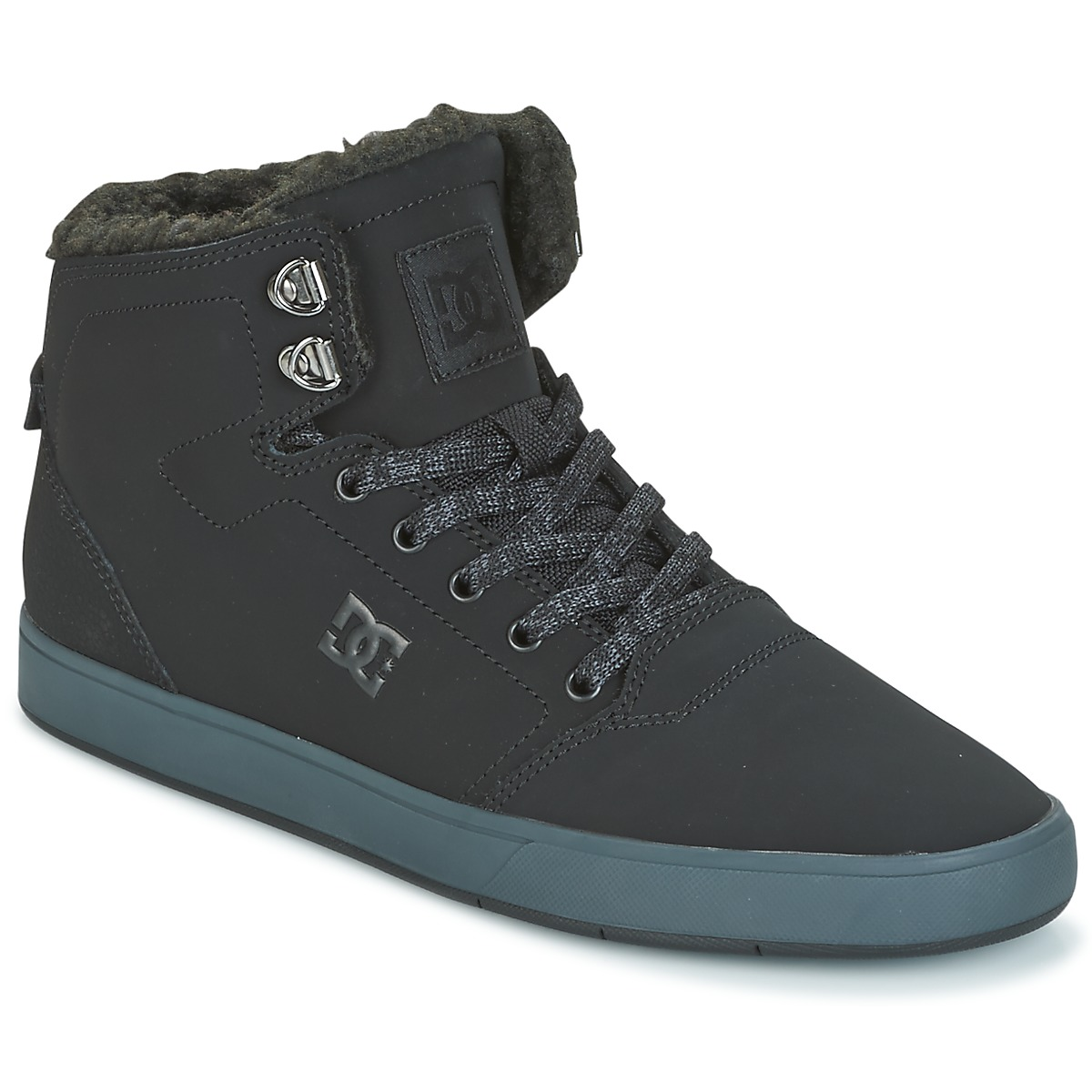 DC Shoes CRISIS HIGH WNT Schwarz / Grau - Kostenloser Versand bei Spartoode ! - Schuhe Sneaker High Herren 73,50 €