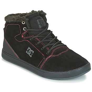 Schuhe Kinder Sneaker High DC Shoes CRISIS HIGH WNT Schwarz / Rot / Weiss