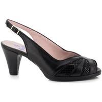 Schuhe Damen Pumps Carlos Pla 4125 Schwarz