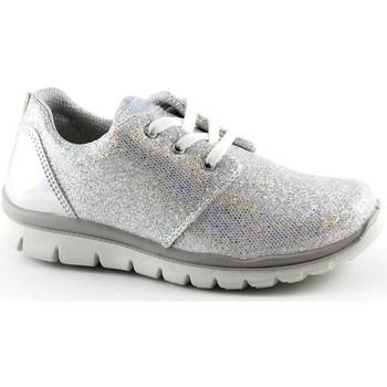 Schuhe Kinder Sneaker Low Primigi 75858 Mädchen Schuhe Sneaker Schnürsenkel niedrigen Glitzerlauf Bianco