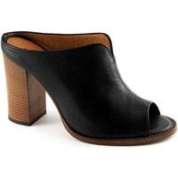 Schuhe Damen Sandalen / Sandaletten Malã¹ MALU '1445 schwarze Schuhe offene Spitze Sandalen Frau Buchse Fe Nero