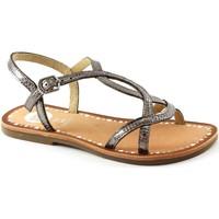 Schuhe Kinder Sandalen / Sandaletten Gioseppo Varila 39566 Zinn braun Baby Sandalen Bronze Marrone