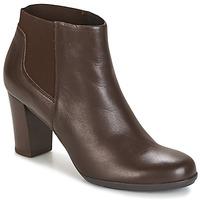 Schuhe Damen Low Boots Geox D ANNYA Braun