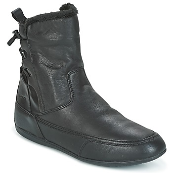Schuhe Damen Boots Geox D NEW MOENA Schwarz