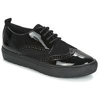 Schuhe Damen Derby-Schuhe Geox D BREEDA Schwarz