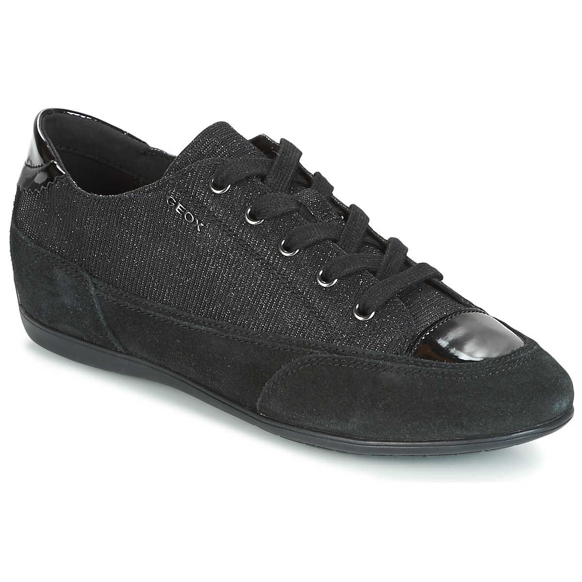 Geox D NEW MOENA Schwarz - Kostenloser Versand bei Spartoode ! - Schuhe Sneaker Low Damen 87,20 €