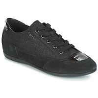 Schuhe Damen Sneaker Low Geox D NEW MOENA Schwarz