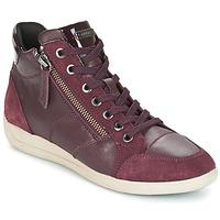 Schuhe Damen Sneaker High Geox D MYRIA Bordeaux