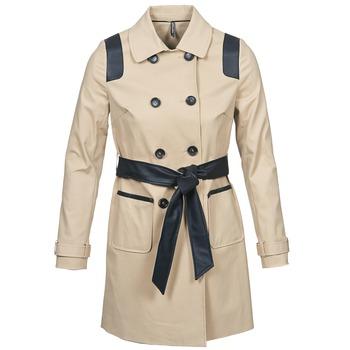 Kleidung Damen Trenchcoats Naf Naf BARTABA Beige / Schwarz