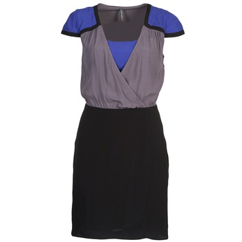 Kleidung Damen Kurze Kleider Naf Naf LYFAN Schwarz / Grau / Blau