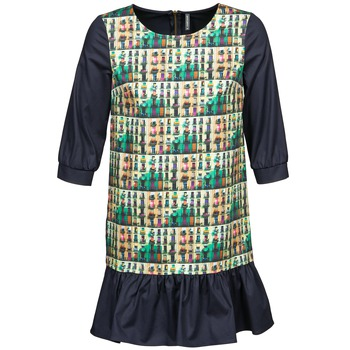 Kleidung Damen Kurze Kleider Naf Naf ECAPS Schwarz / Multicolor
