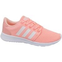 Schuhe Damen Sneaker Low adidas Originals Cloudfoam QT Racer W Rosa-Weiß