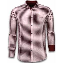 Kleidung Herren Langärmelige Hemden Tony Backer Slim Gart Pattern Rot
