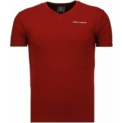 Kleidung Herren T-Shirts Local Fanatic V Neck Bordeaux