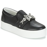 Schuhe Damen Slip on Marc Jacobs WRIGHT EMBELLISHED SNEAKER Schwarz