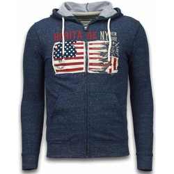 Kleidung Herren Sweatshirts Enos Sweatjacke Embroidery American Heritage Blau