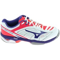 Schuhe Damen Sneaker Low Mizuno Wave Exceed CC Blanc Weiss