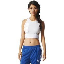 Kleidung Damen T-Shirts adidas Originals Cropped Top Weiß